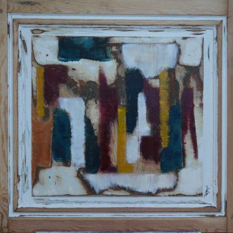 Huile sur bois 75 x 71 cm