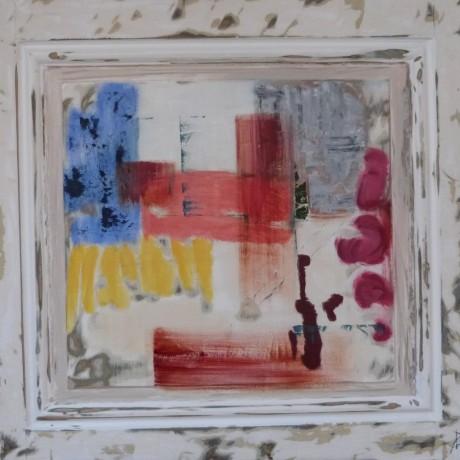 huile sur bois porte ancienne 77,5 cm x 74 cm