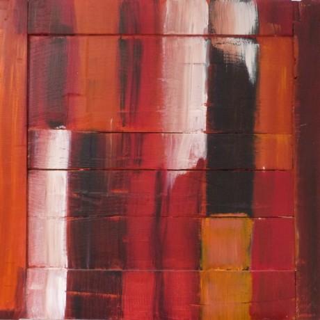 huile sur bois porte ancienne 68 cm x 60 cm