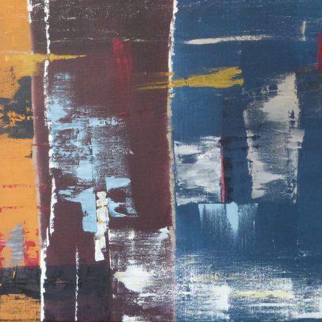 Huile sur toile 100 x 50 cm vendue