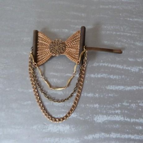Pince à cheveux bijou de tête noeud et chaînes fantaisie