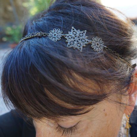headband bronze étoile