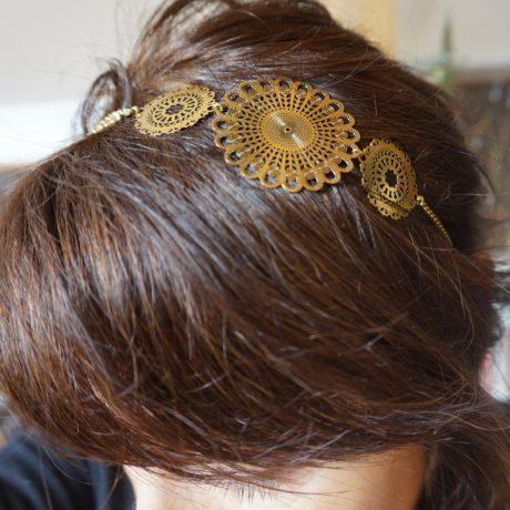 headband doré grande estampe