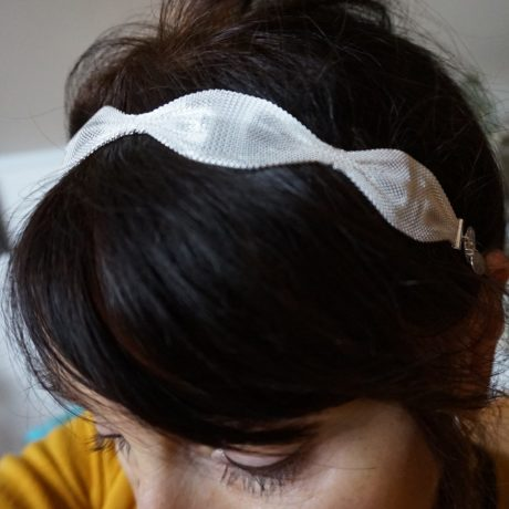 headband maille ondulée plaqué argent