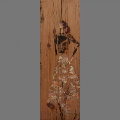 huile sur bois 17,5cm x 55cm