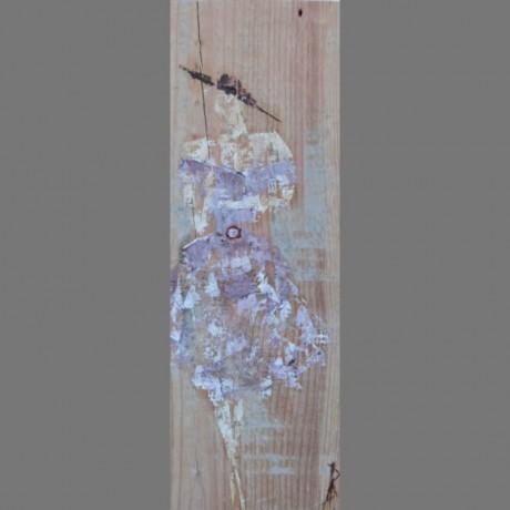 huile sur bois 19cm x 56cm