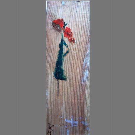 Huile sur bois 19 x 53 cm