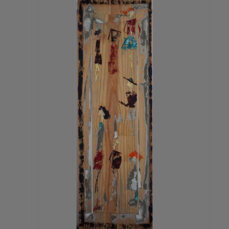 Huile sur bois 19.5 x 59 cm