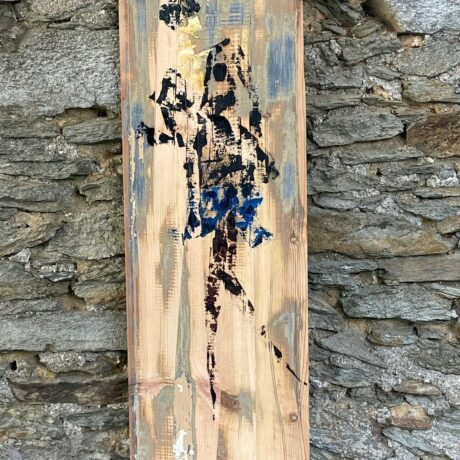 huile sur bois 23 x 79 cm