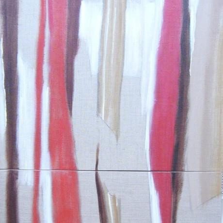 Huile sur 2 toiles 60 cm x 60 cm et 60 cm x 30 cm