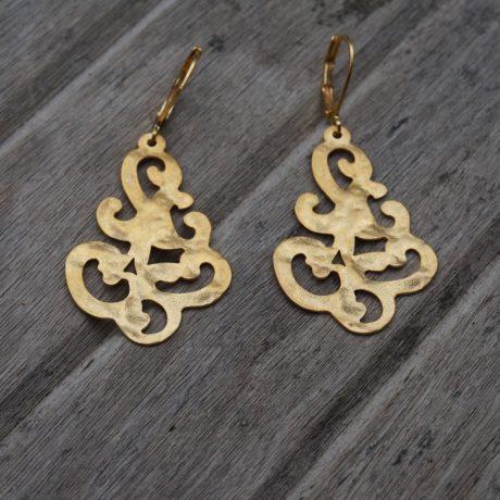 Boucles d'oreilles motif arabesque
