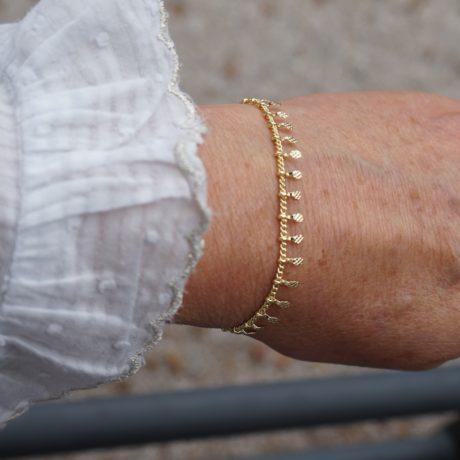 Bracelet fin doré multi pampilles
