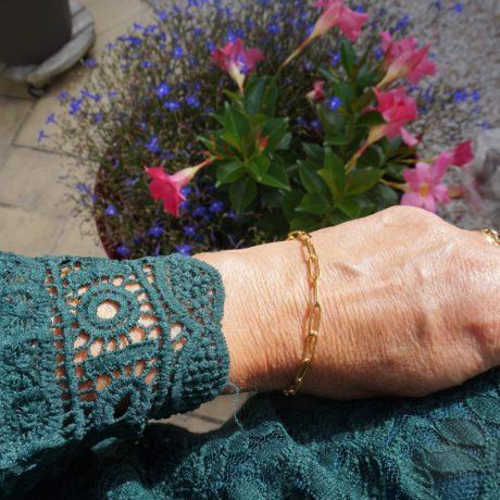 Bracelet doré gourmette gros maillon acier inoxydable