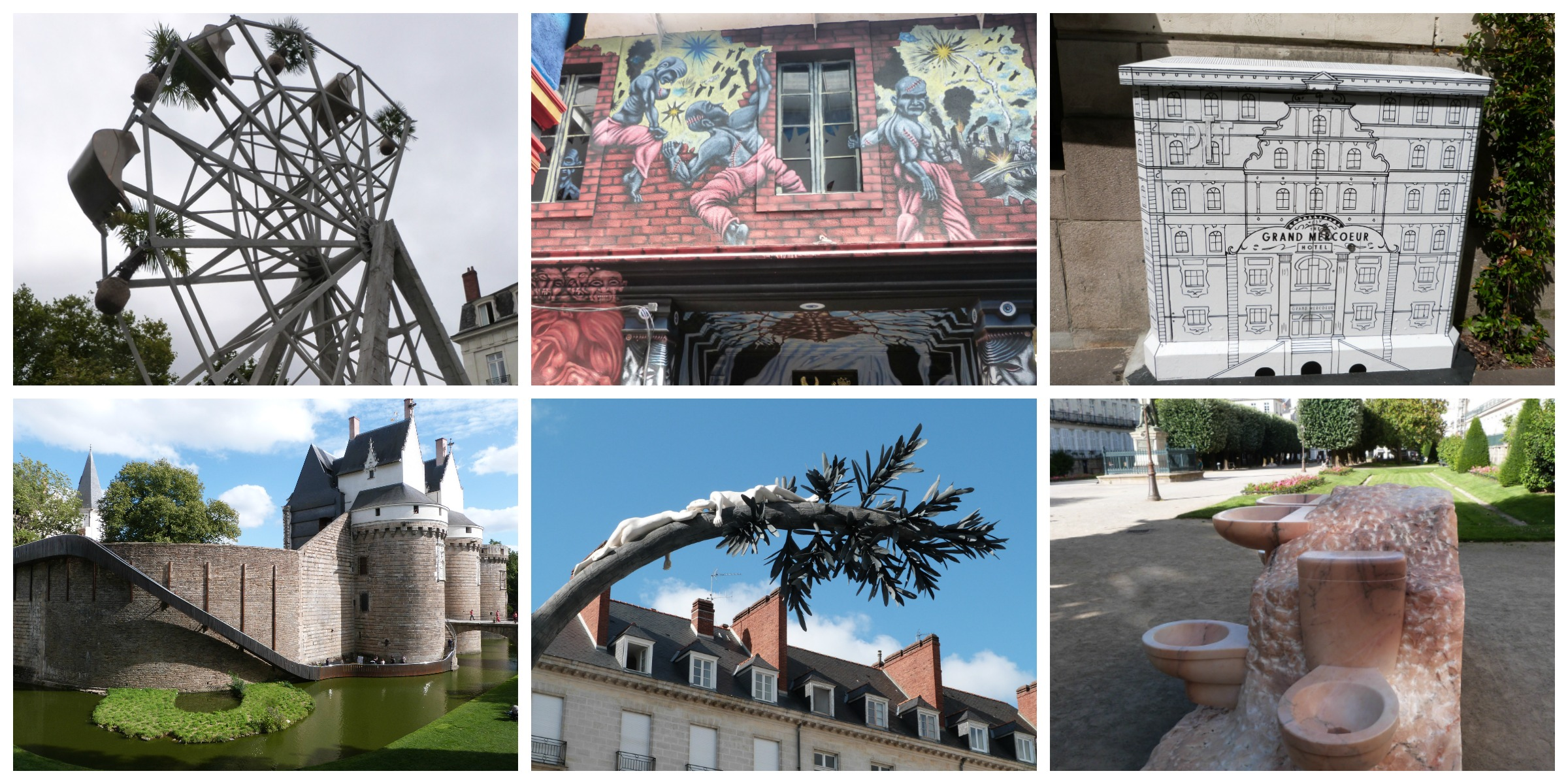 quelques photos des œuvres d'art du voyage à Nantes 2017